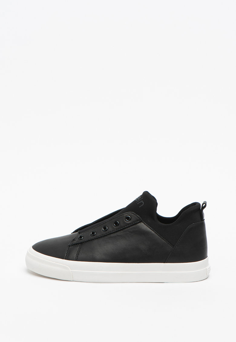 Pantofi sport din piele ecologica cu detaliu logo Franco 3