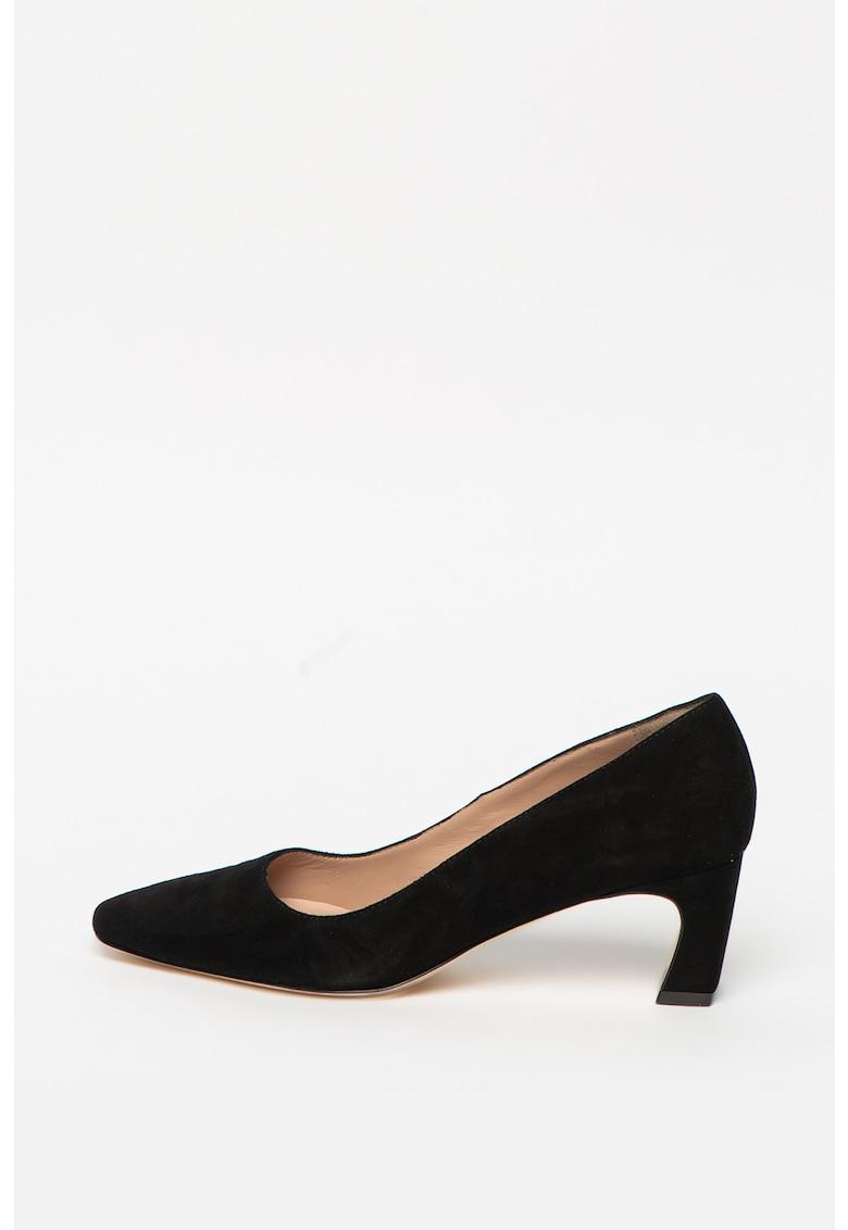Pantofi de piele intoarsa Freya