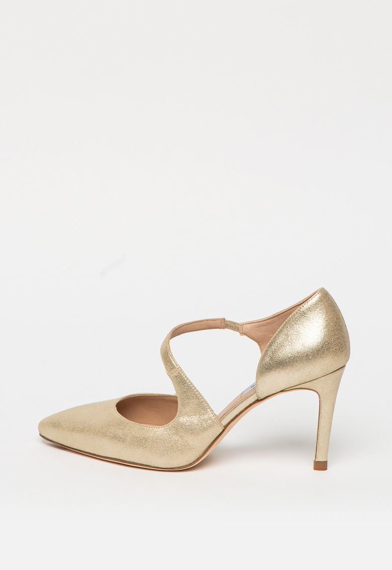 Pantofi de piele nabuc cu toc inalt Victoria