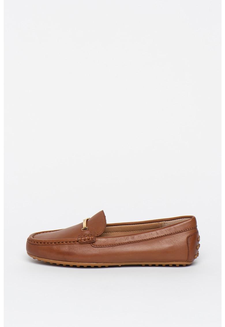 Lauren Ralph Lauren Pantofi loafer de piele cu accente metalizate