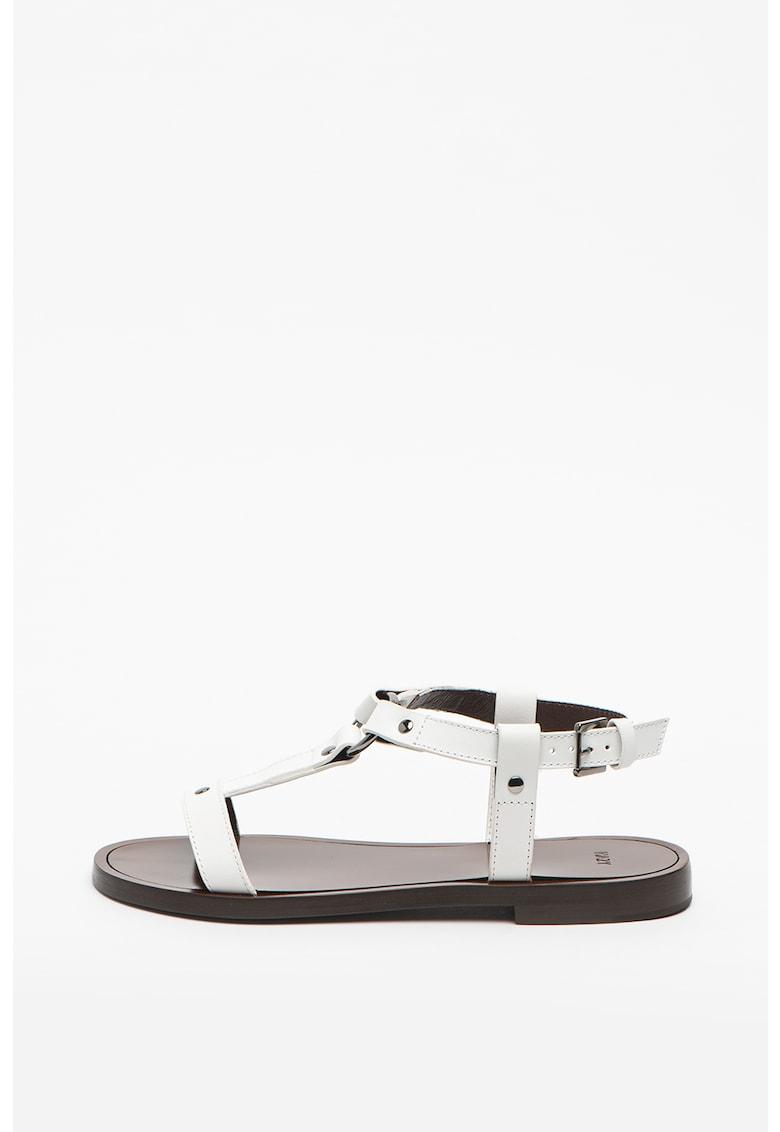 Sandale de piele cu catarama