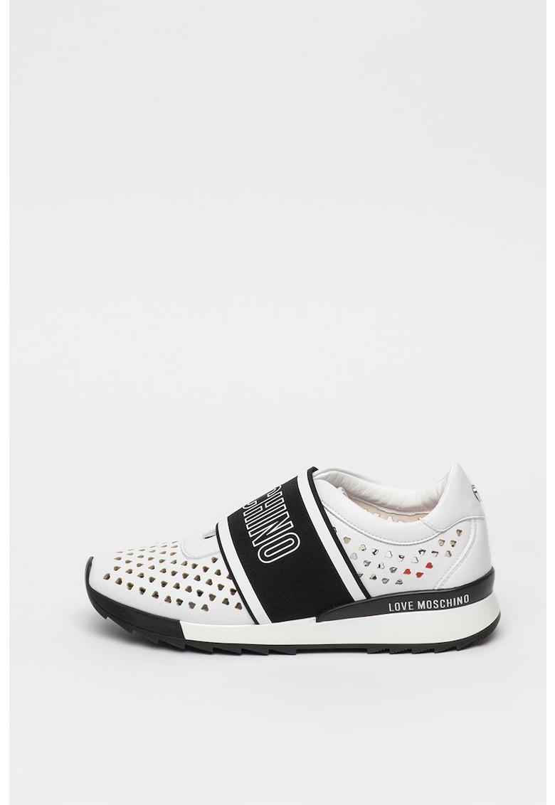 Pantofi sport slip-on de piele ecologica cu decupaje
