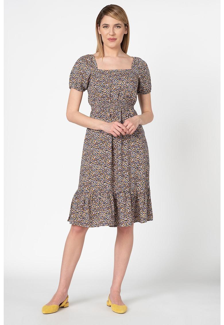 Rochie midi cu imprimeu floral Sona