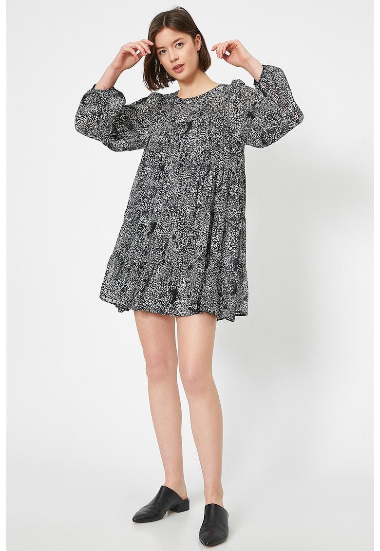Rochie mini cu imprimeu abstract