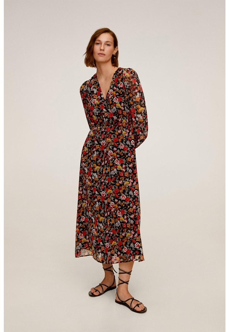 Rochie maxi cu imprimeu floral Winona