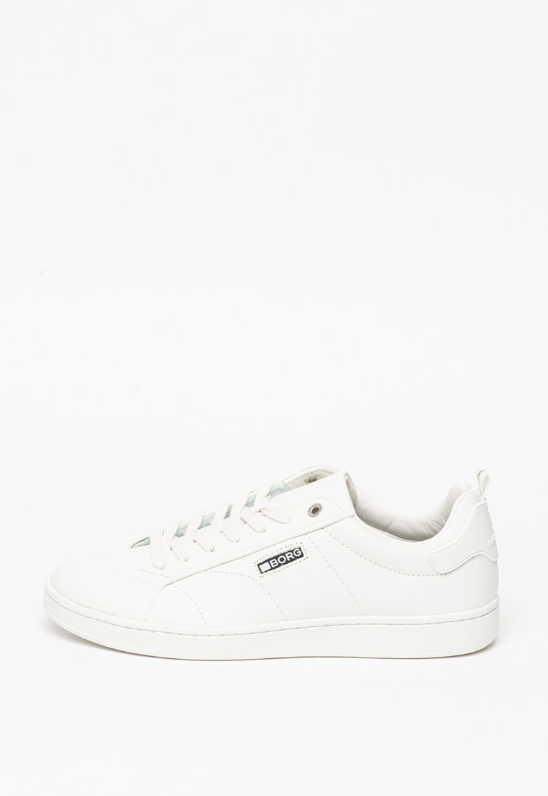 Pantofi sport din piele ecologica cu logo