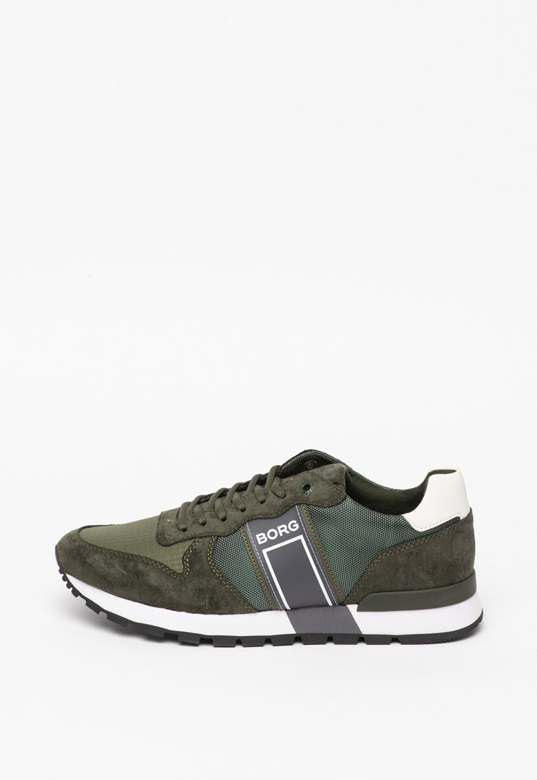 Pantofi sport cu garnituri din piele intoarsa imagine