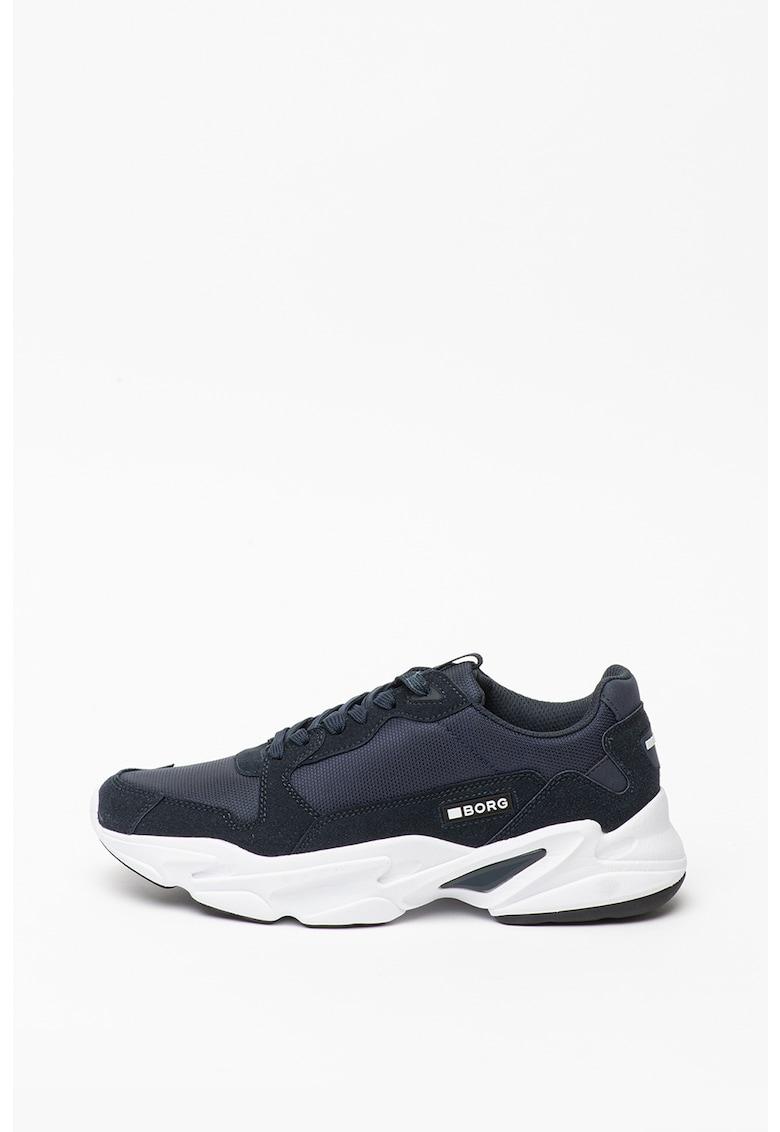 Pantofi sport cu insertii de piele intoarsa sintetica X400 BSC