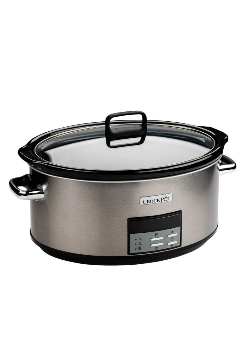 Crock-Pot Slow cooker   - 7.5L Digital - vas ceramica - capac de sticla - Inox