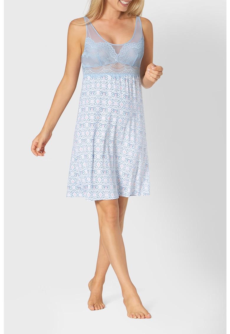 Camasa de noapte cu detalii din plasa si dantela Darling Spotlight imagine fashiondays.ro 2021