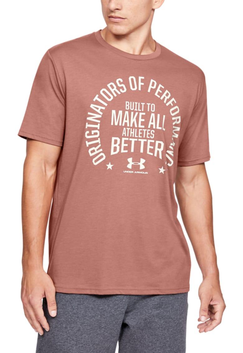 Tricou cu imprimeu text - pentru antrenament