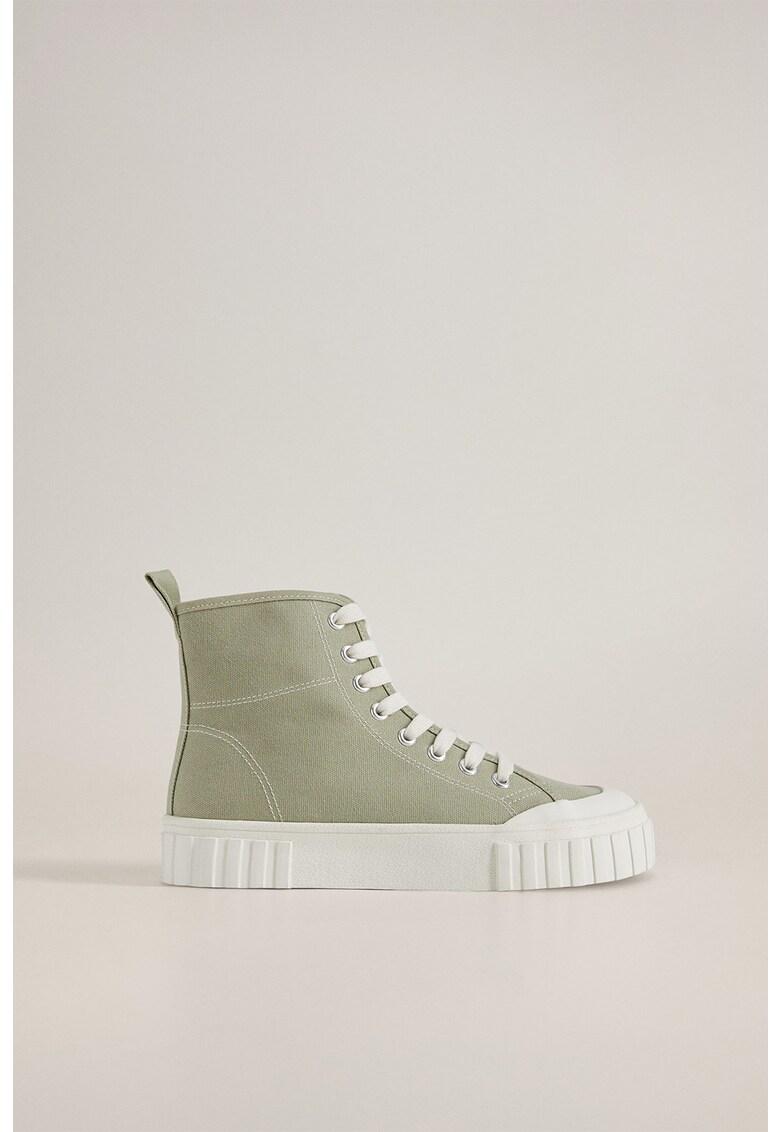 Pantofi sport inalti din panza cu varf intarit Ranma