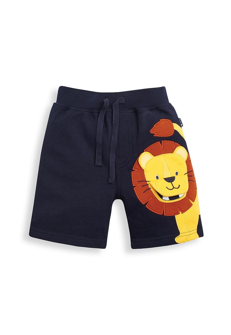 Pantaloni scurti din jerseu cu model cu leu si talie elastica imagine