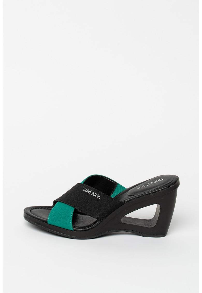Papuci cu model logo Orchidea