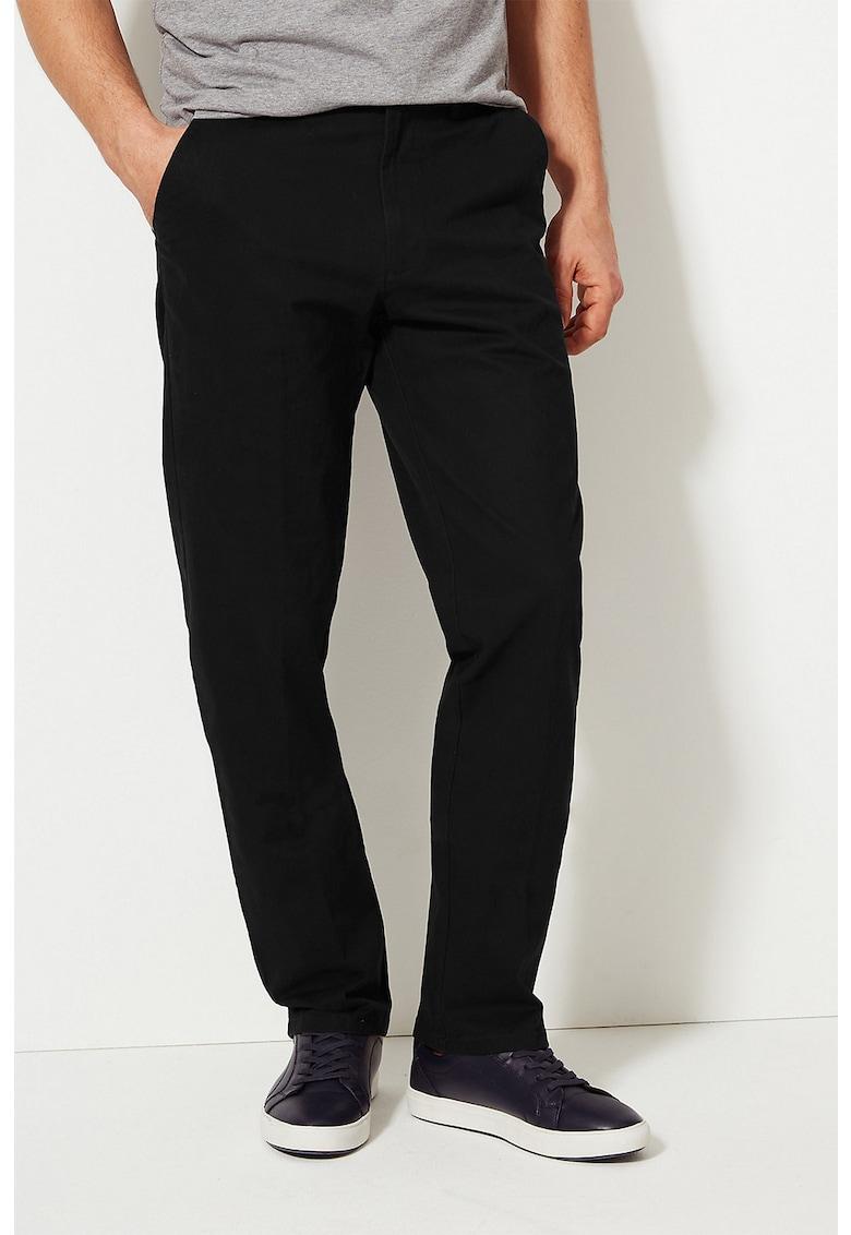 Pantaloni chino regular fit cu buzunare oblice