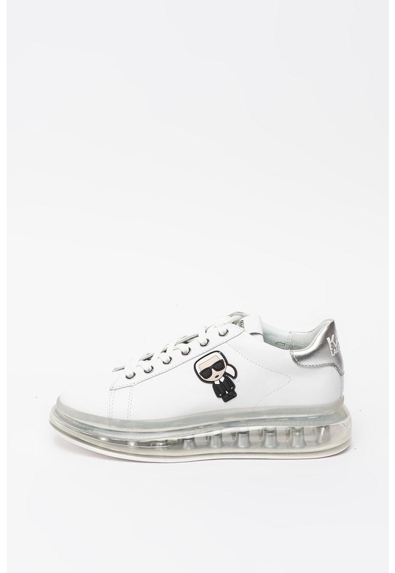 Pantofi sport din piele cu aplicatie logo Kapri Kushion