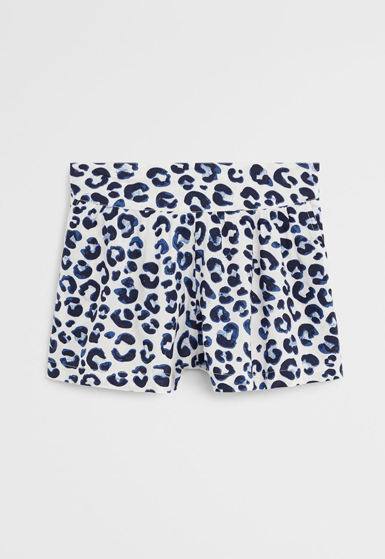 Pantaloni scurti din material vaporos cu animal print Pera poza fashiondays
