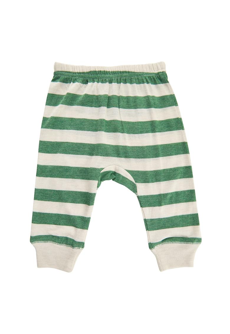Pantaloni din amestec de bambus - cu model in dungi CeLaVi fashiondays.ro