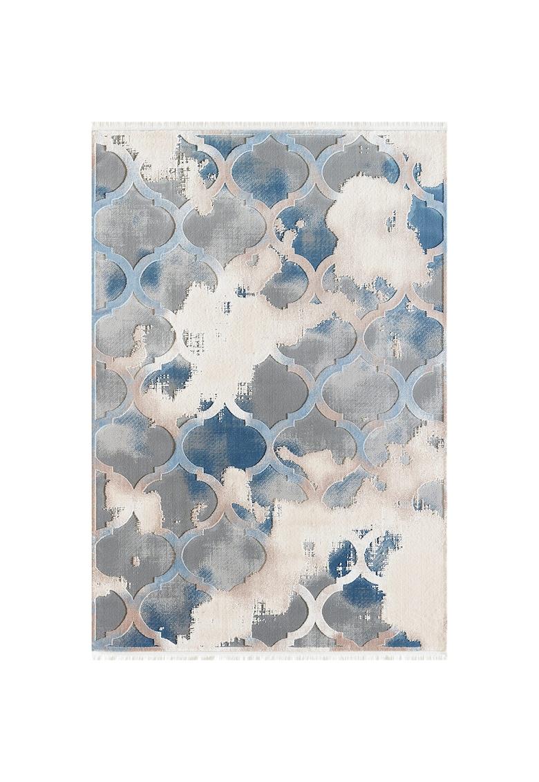 Covor Girit antistatic - acrilic - 160x230cm - albastru/crem - GR03C