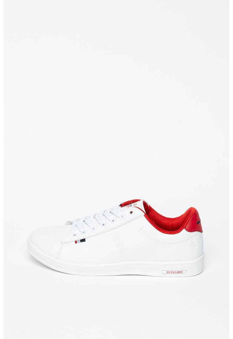 Pantofi sport din piele ecologica cu detaliu logo Franco 1