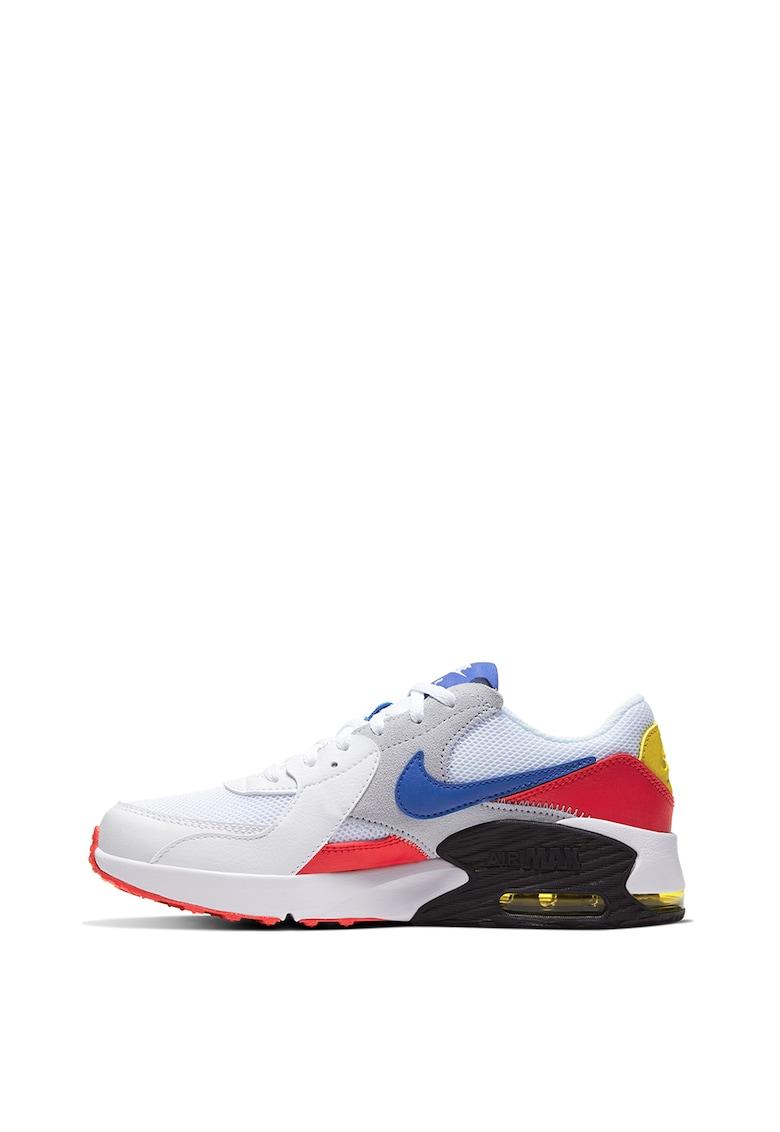 Pantofi sport cu model colorblock si garnituri de piele si piele intoarsa Air Max Excee
