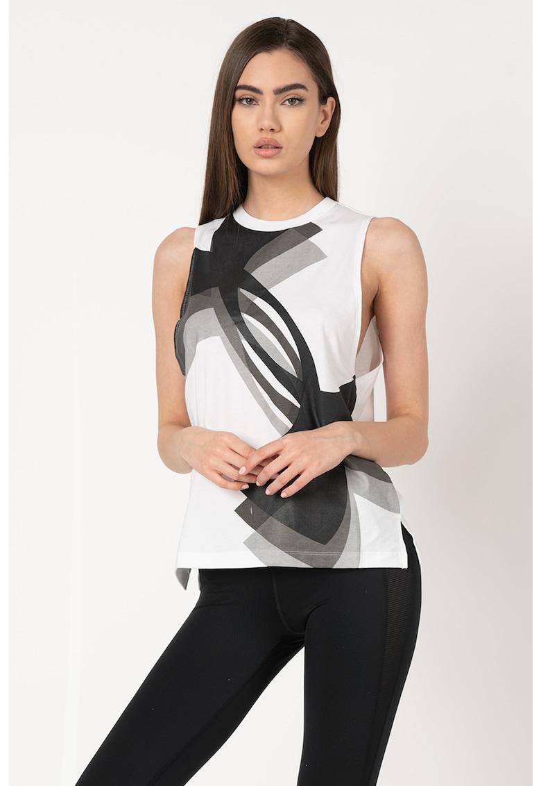 Top lejer cu imprimeu logo - pentru fitness Muscle imagine fashiondays.ro