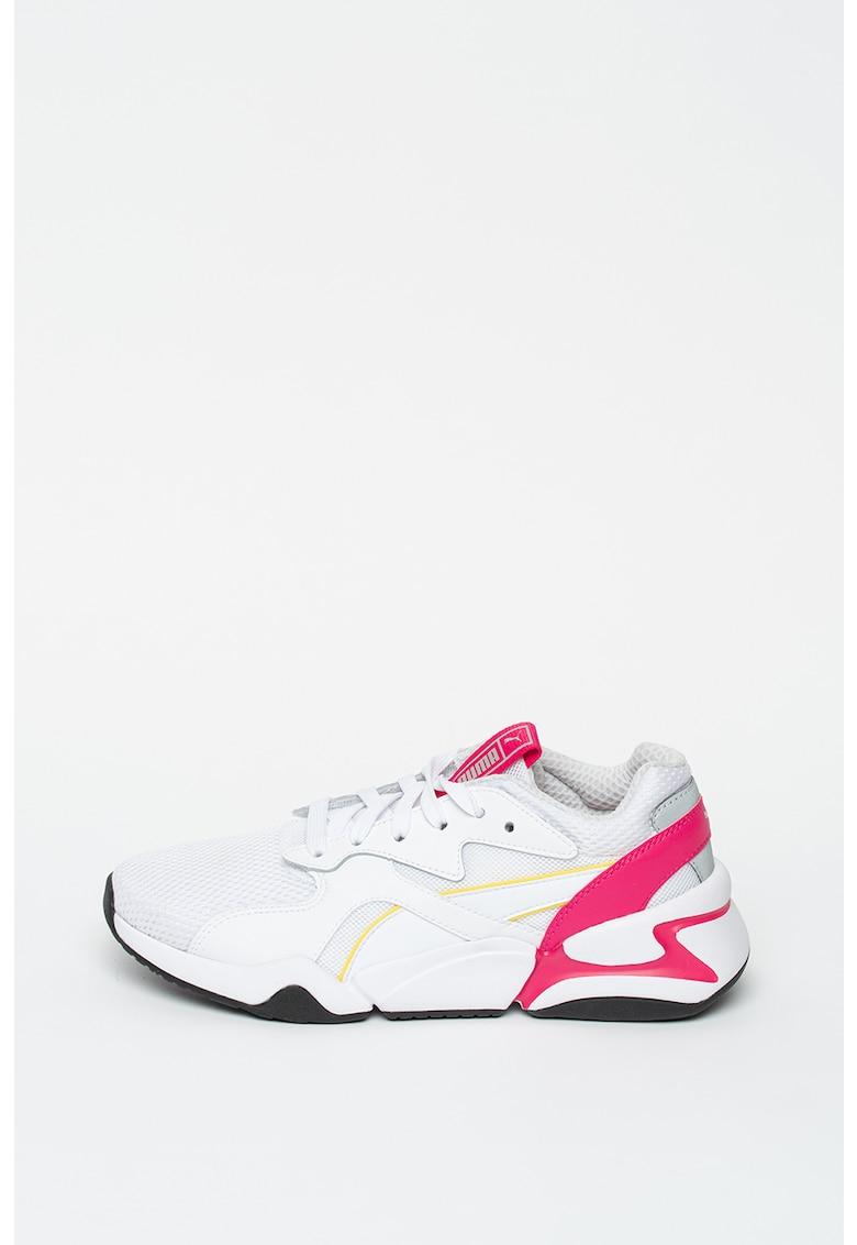 Pantofi sport de plasa cu garnituri de piele Nova