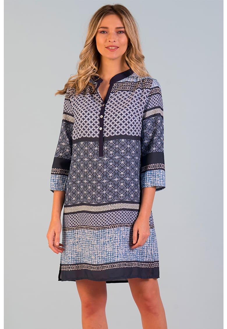 Rochie tip tunica cu imprimeuri variate Format-Lady