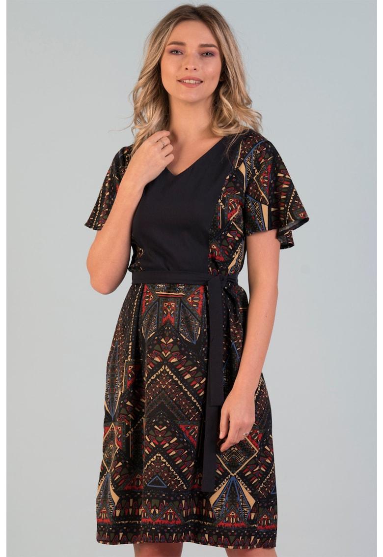 Rochie evazata cu cordon Format Lady fashiondays.ro