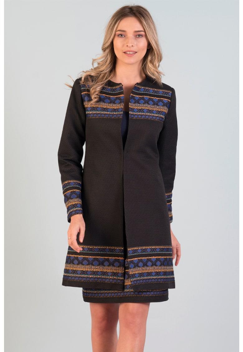 Palton cu model geometric Format Lady fashiondays.ro