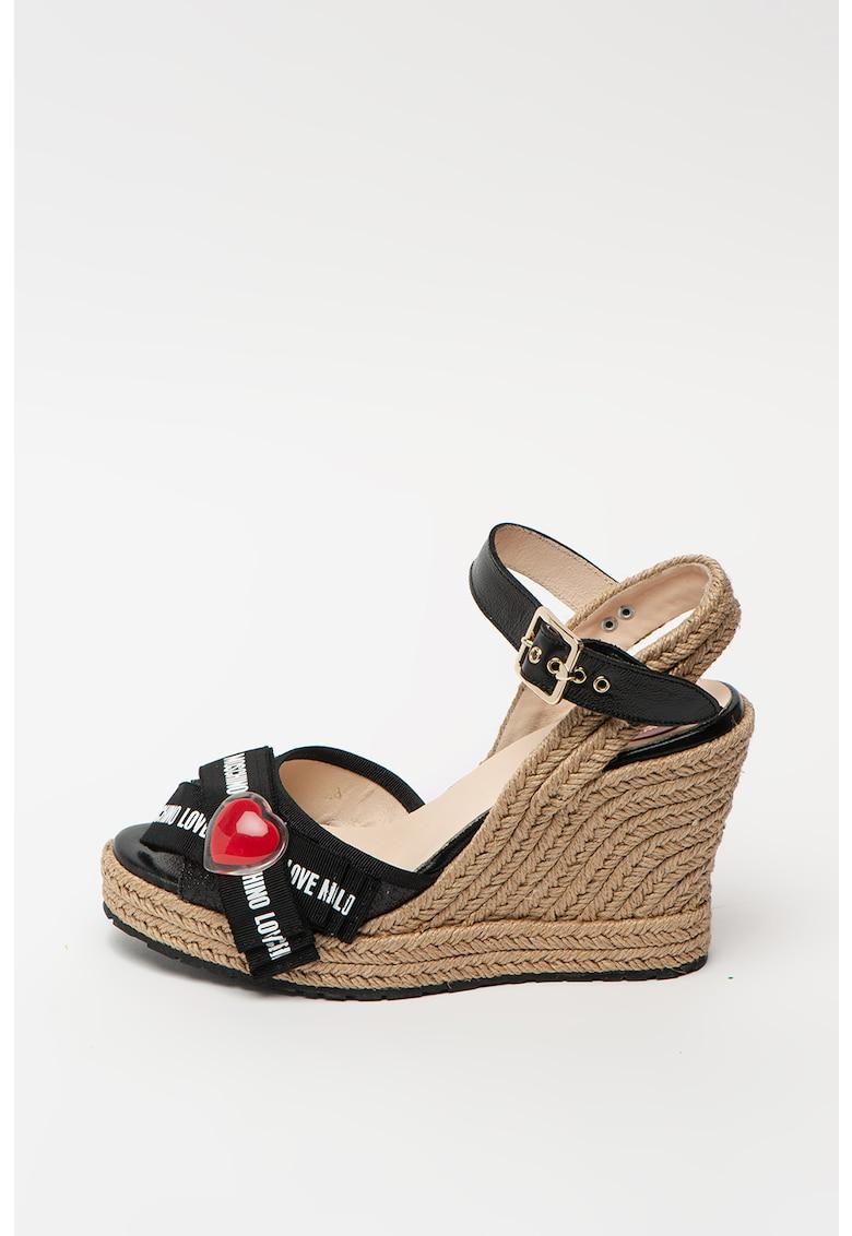 Sandale tip espadrile cu talpa wedge