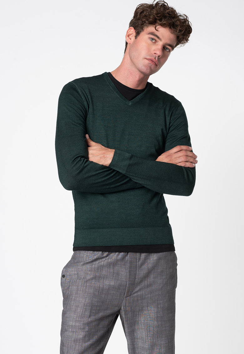 Pulover tricotat fin - din lana de la Replay