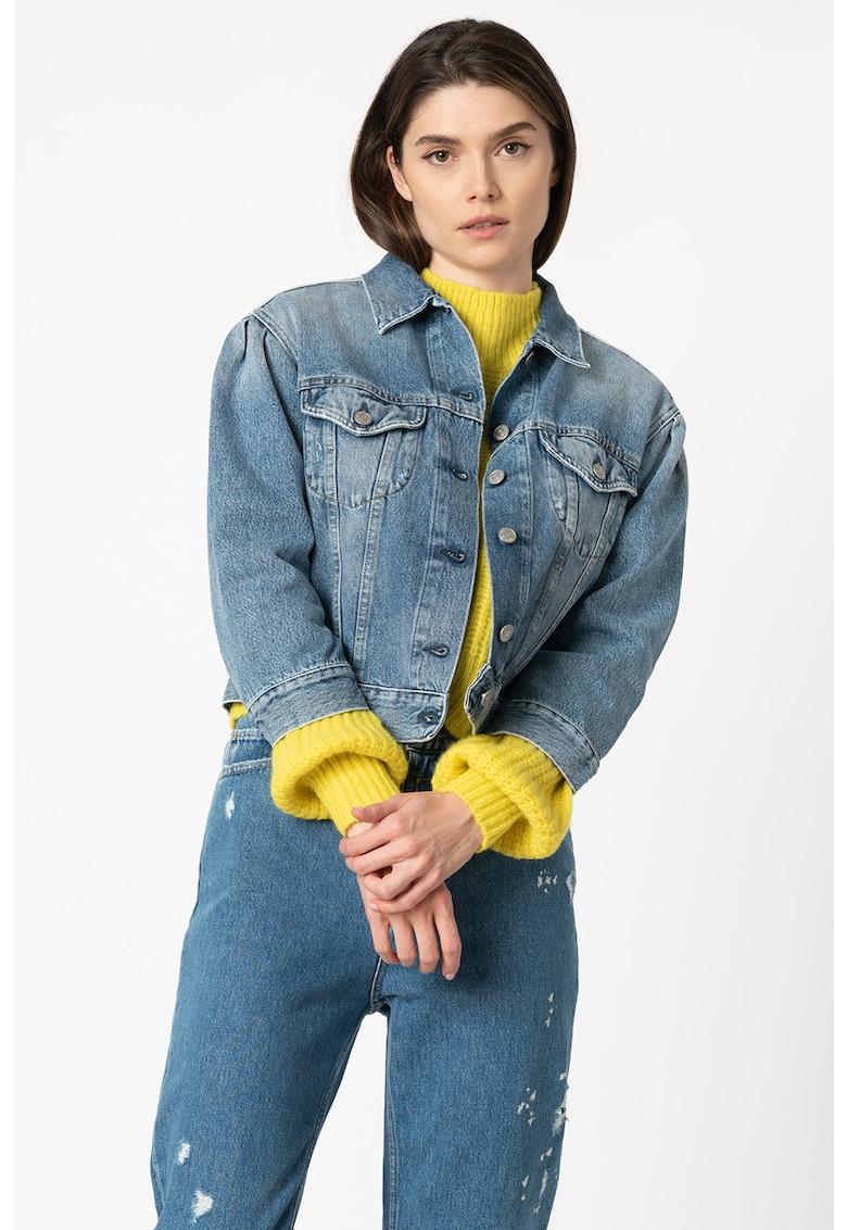 Jacheta din denim - cu aspect decolorat poza fashiondays