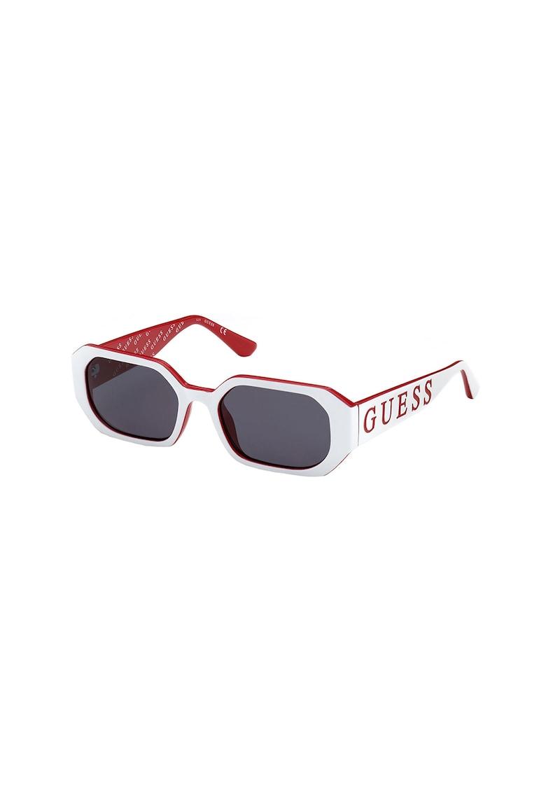 Ochelari de soare dreptunghiulari cu logo stantat