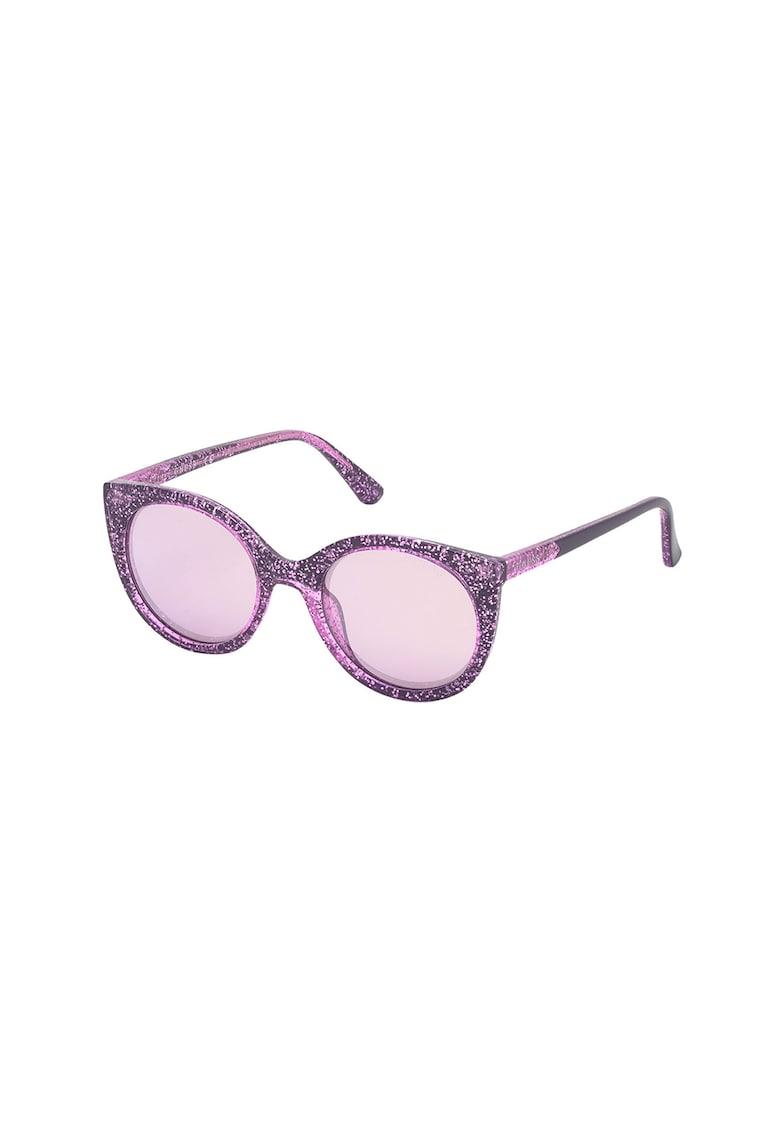 Ochelari de soare cat-eye cu aspect stralucitor imagine