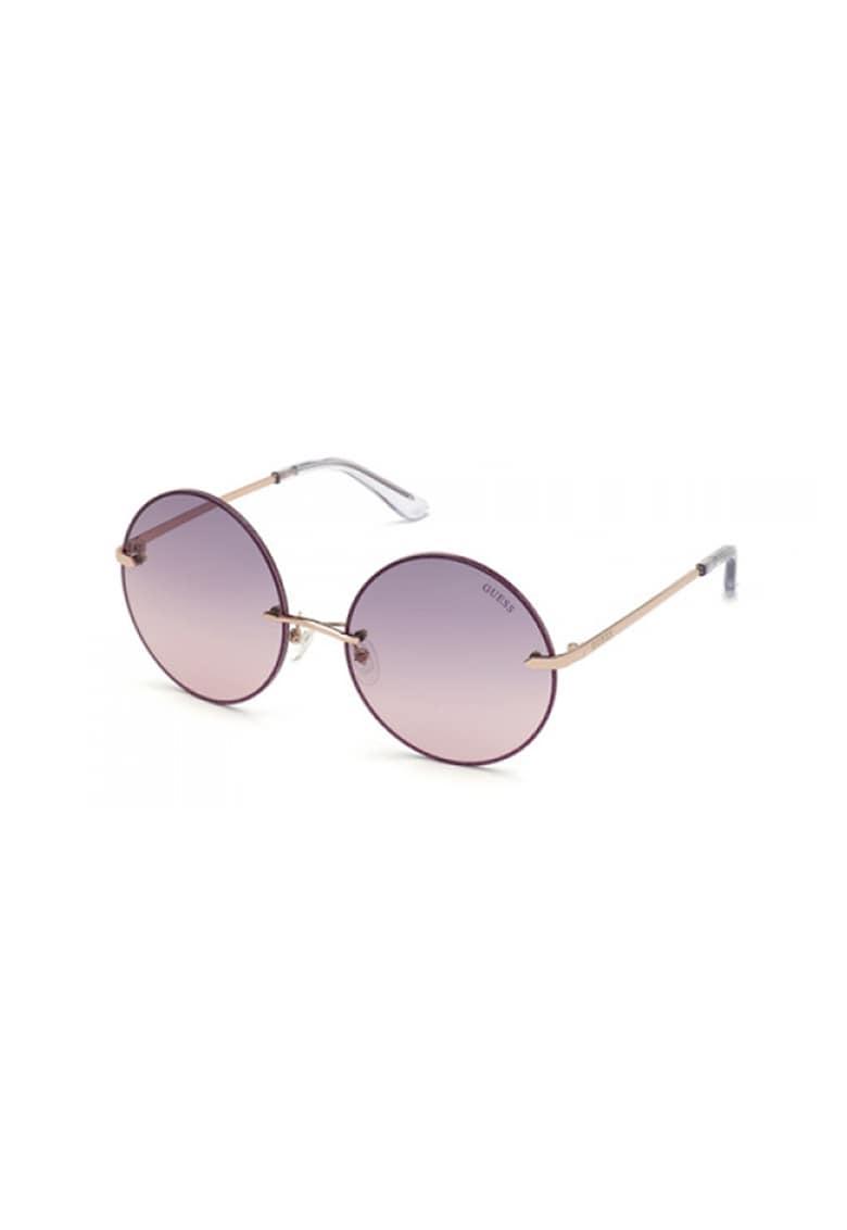 Ochelari de soare rotunzi cu lentile oglinda Guess fashiondays.ro
