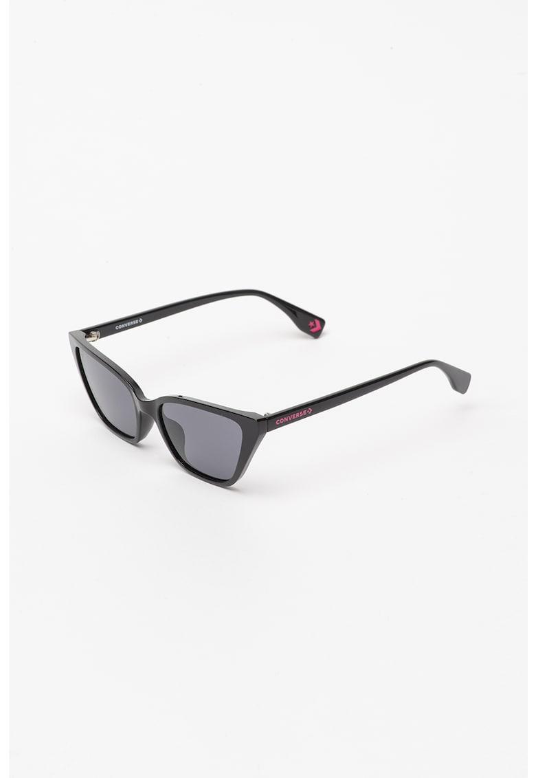 Ochelari de soare cat-eye cu logo discret imagine
