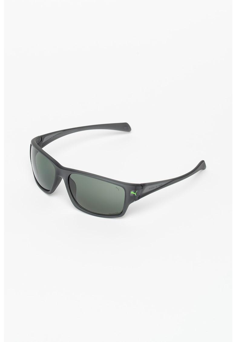 Ochelari de soare dreptunghiulari cu lentile uni