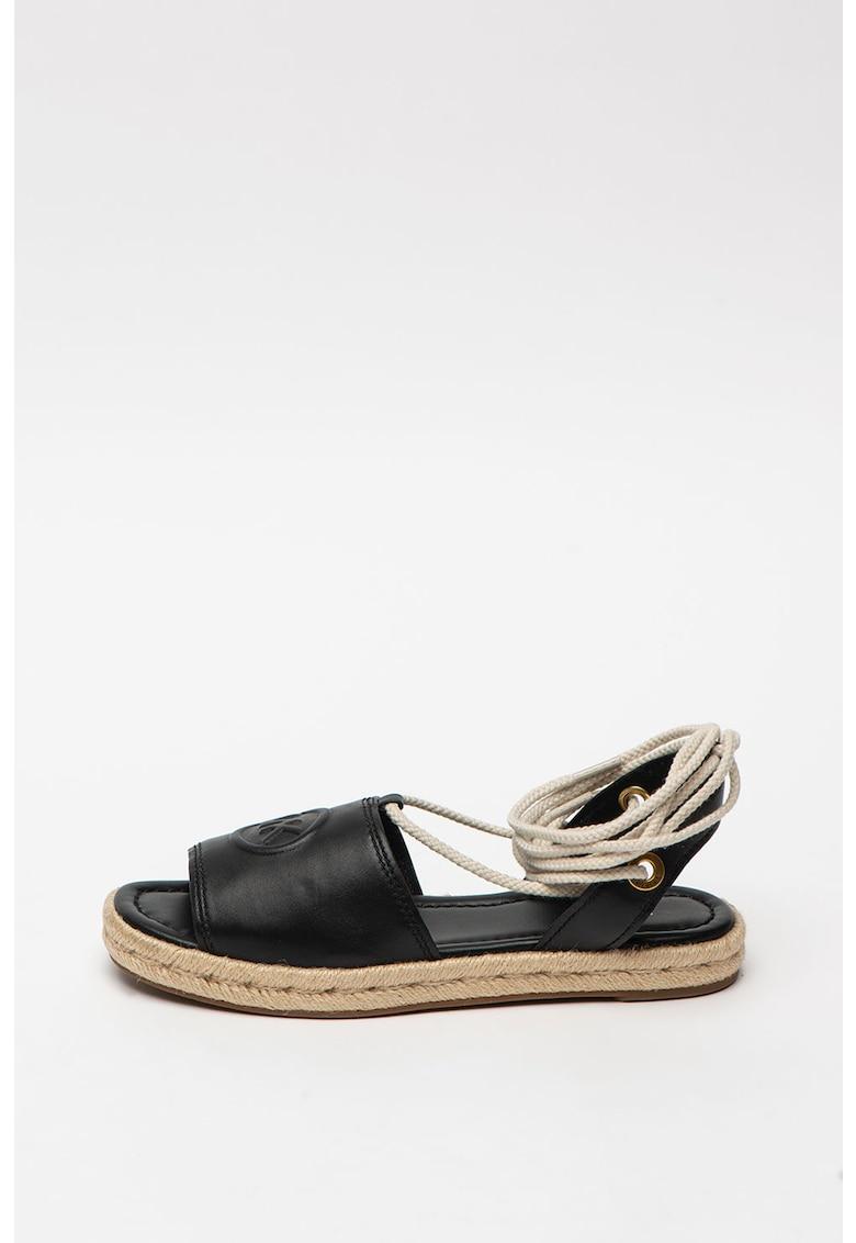 Sandale tip espadrile de piele Dylyn