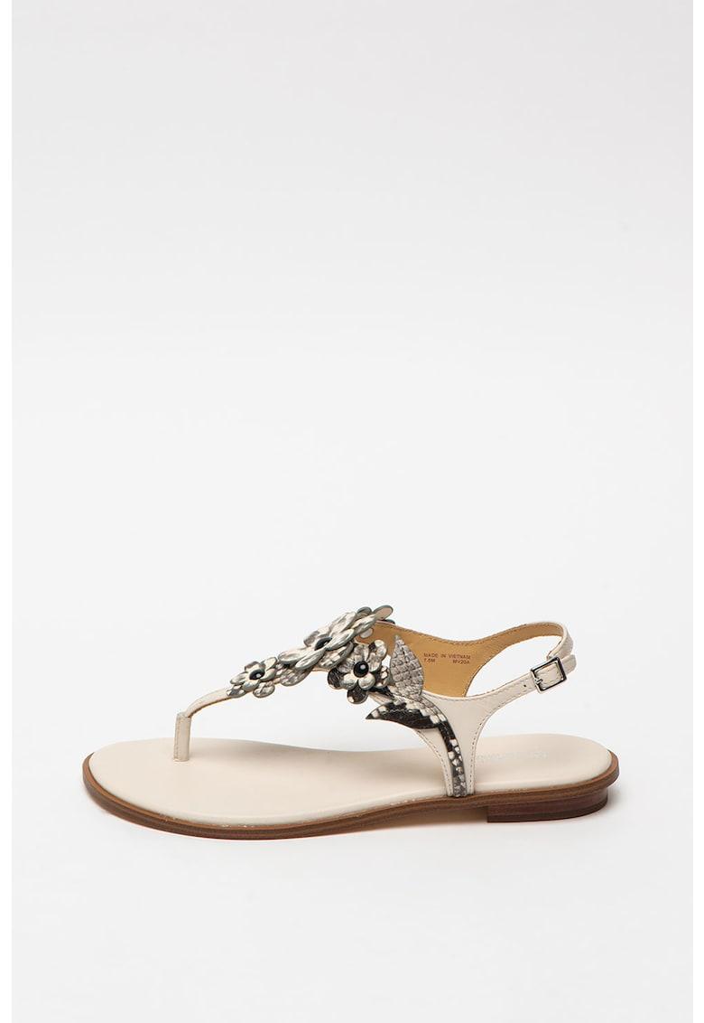 Sandale de piele cu bareta separatoare Flora