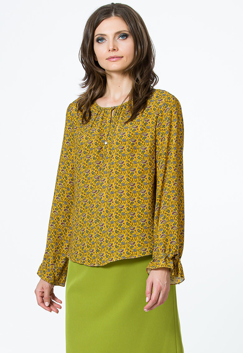 Bluza vaporoasa cu model paisley