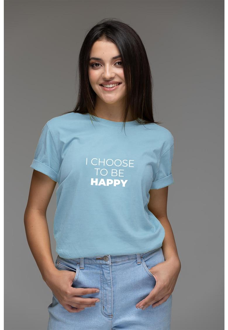 Tricou din bumbac organic cu imprimeu mesaj