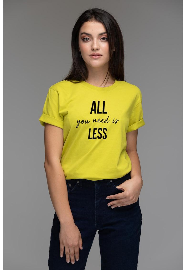 Tricou din bumbac organic cu imprimeu text