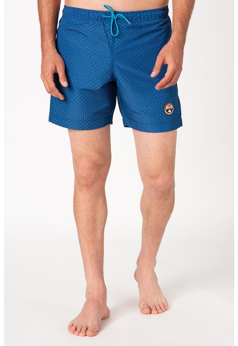 Pantaloni scurti de baie cu imprimeu grafic si snur de ajustare in talie Vail 3 imagine promotie