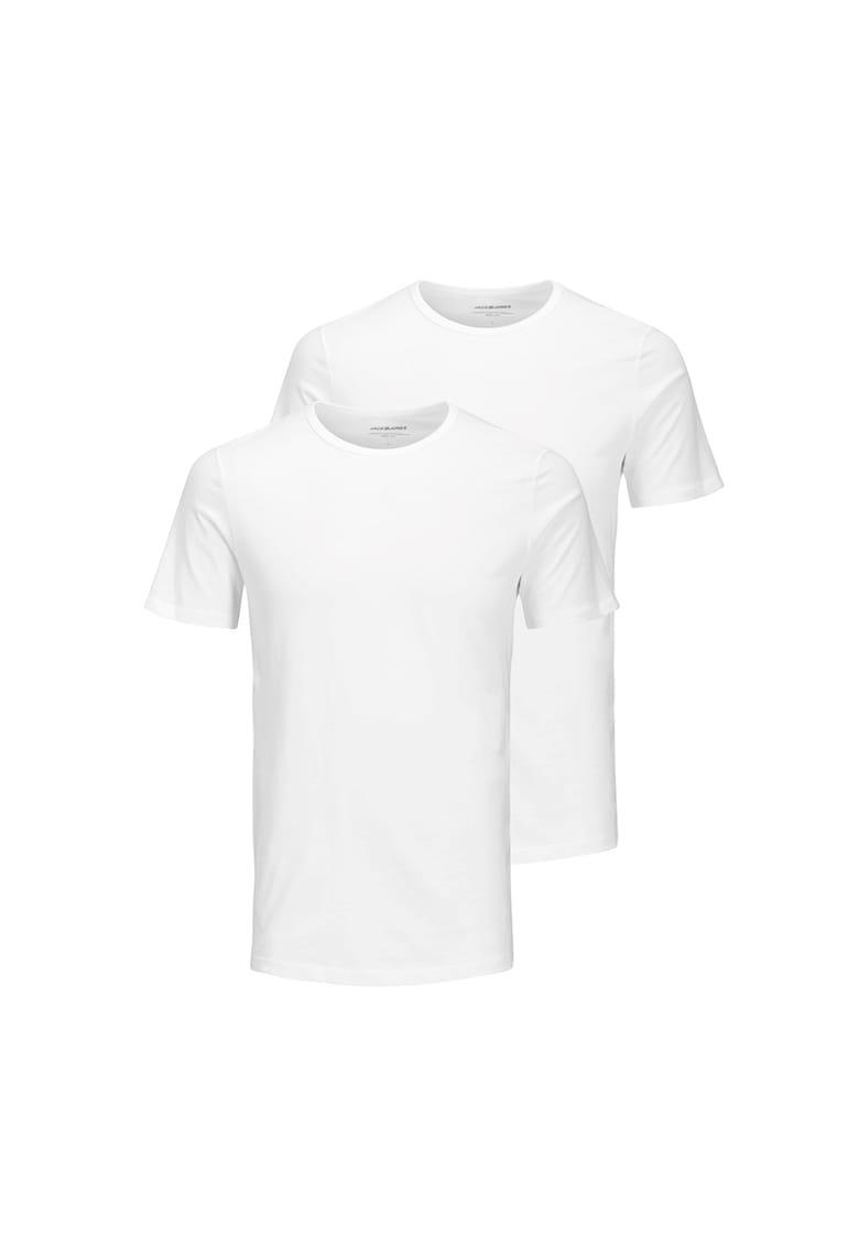 Set de tricouri cu decolteu la baza gatului - 2 piese