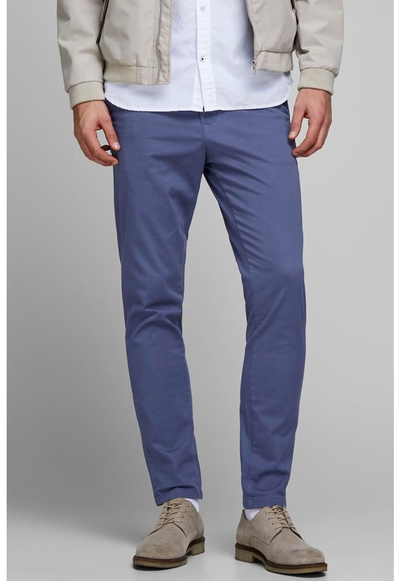 Pantaloni chino slim fit cu croiala conica