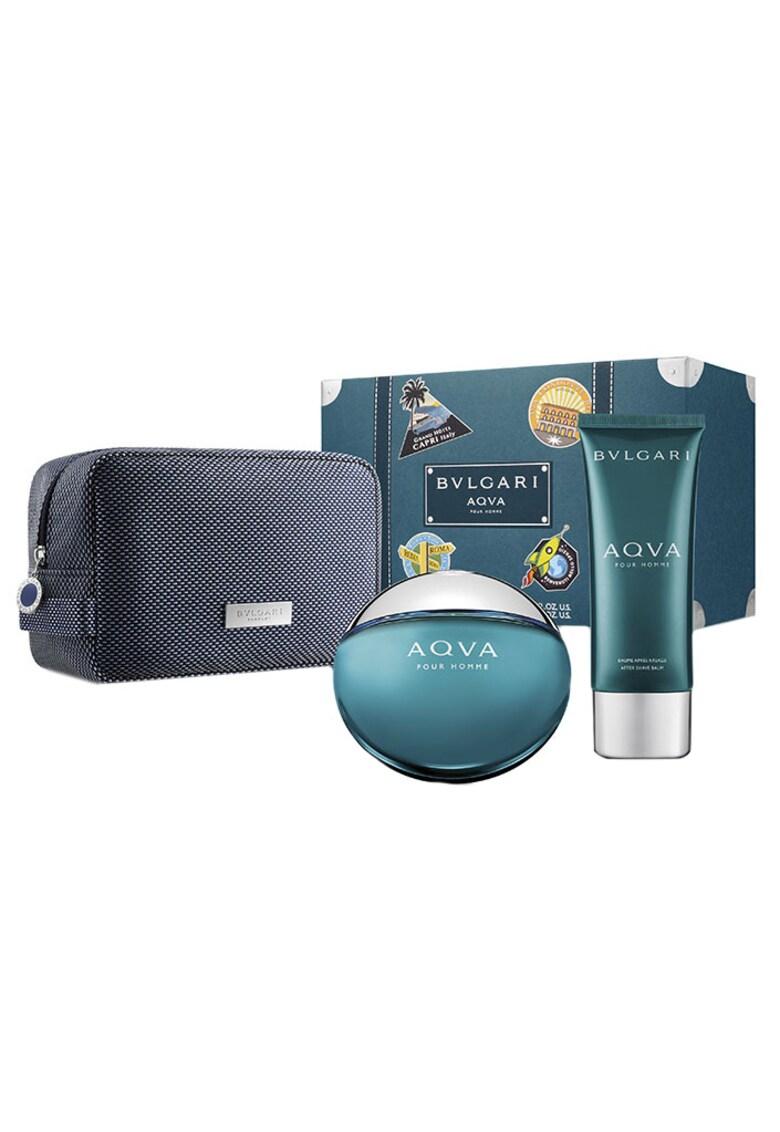 Set Aqva pour Homme - Barbati: Apa de Toaleta - 100 ml + After Shave Balsam - 100 ml + Geanta cosmetice imagine promotie