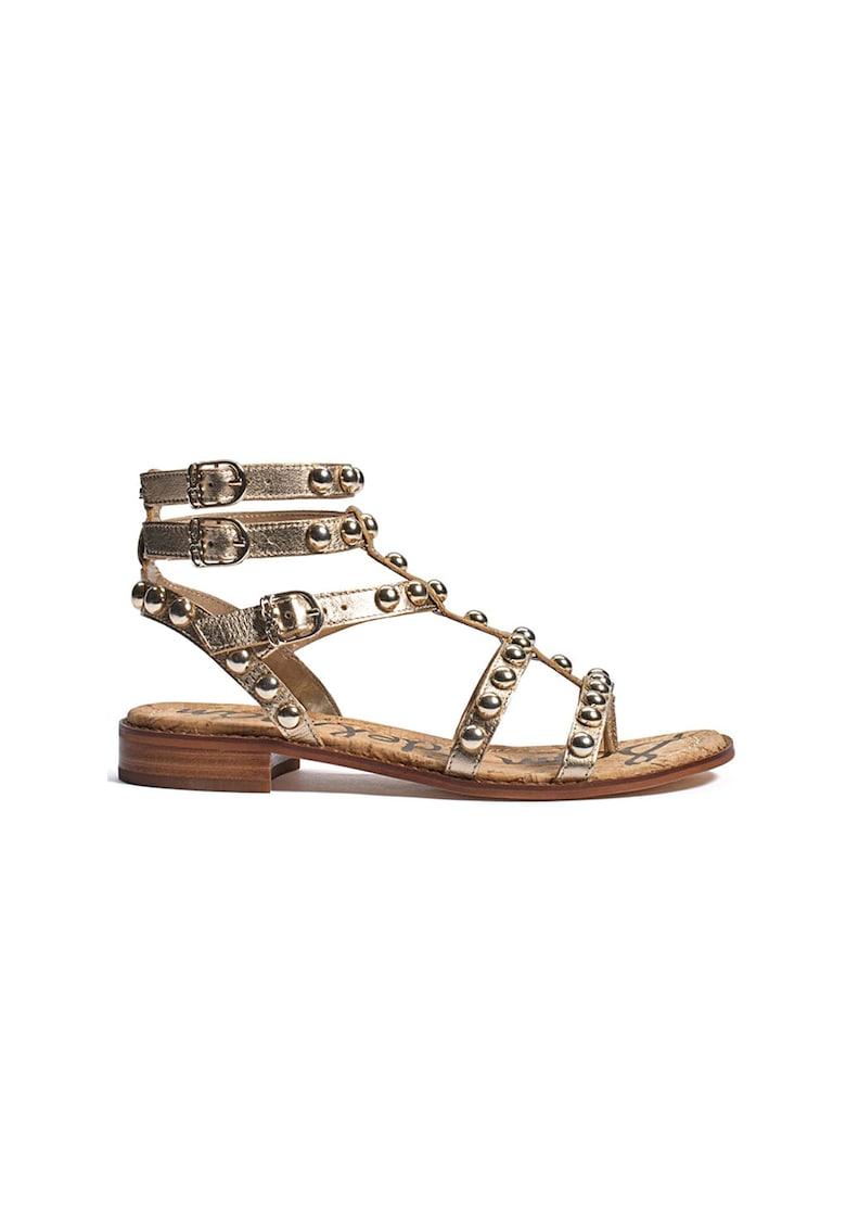 Sandale gladiator de piele cu nituri Eaven