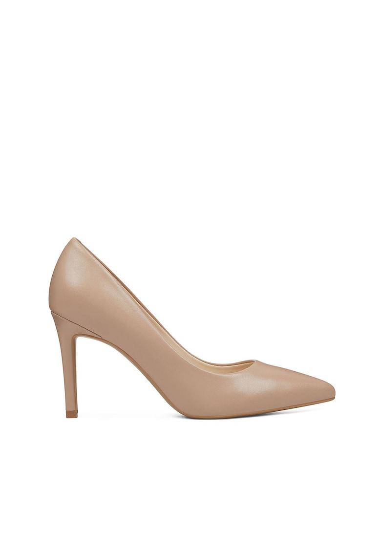 Pantofi stiletto de piele cu varf ascutit Etta