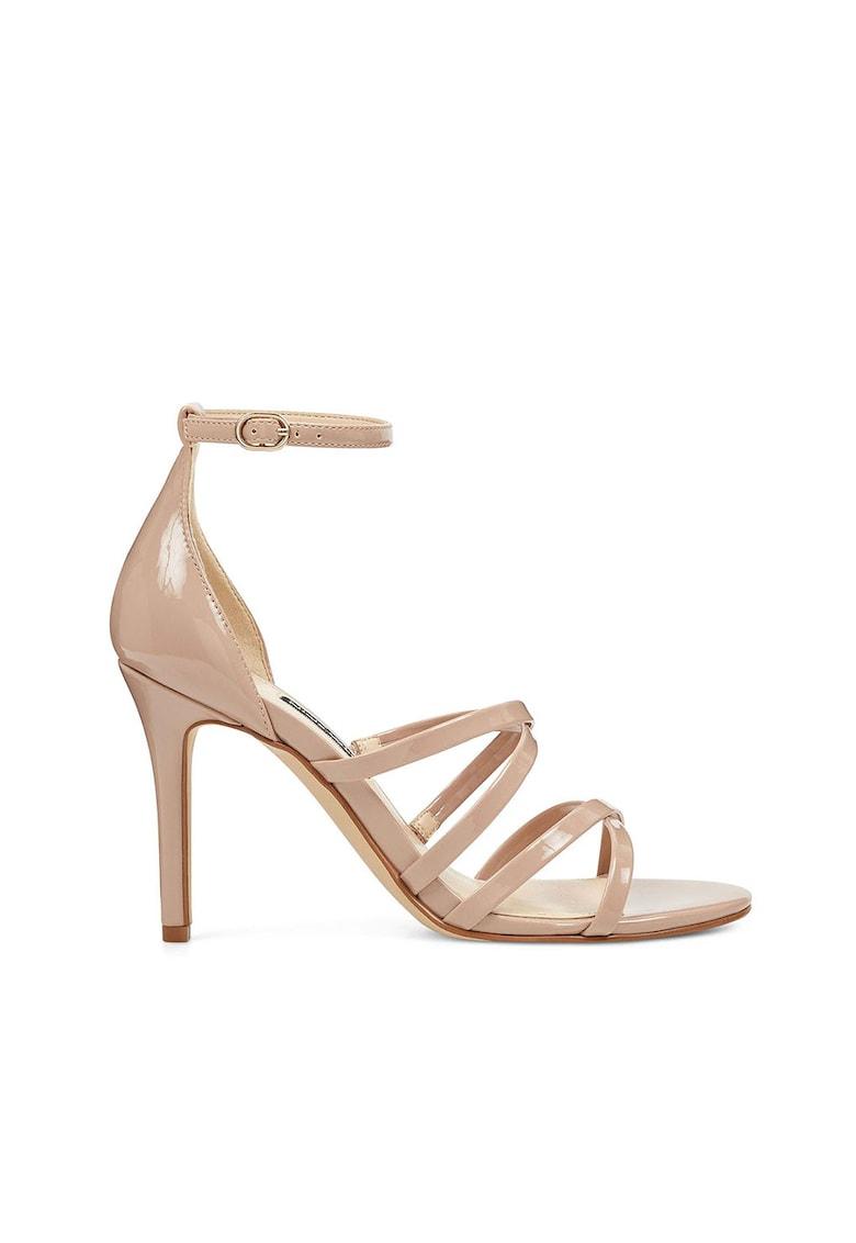 Sandale de piele ecologica cu toc inalt Malina